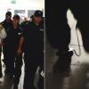 Więzień sumienia Zygmunt Miernik zakuty w kajdanki