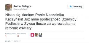 Nisko się kłaniam panie naczelniku Kaczyński