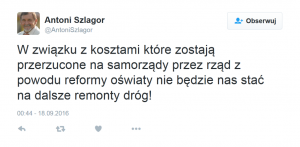 Remonty dróg Antoni Szlagor